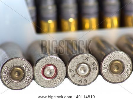 Closeup Bullet Shells