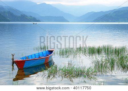Boats In Fewa Lake