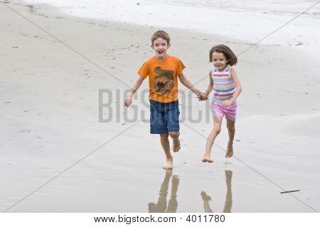Two Children Running