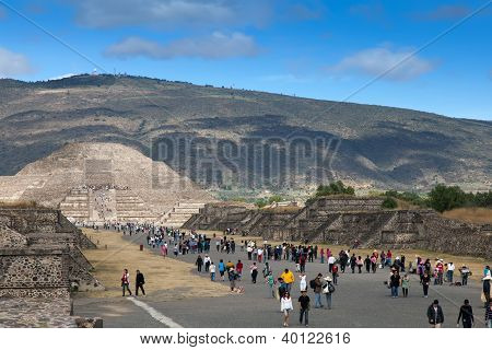 Pyramid Of The Moon In Teotihuacan,