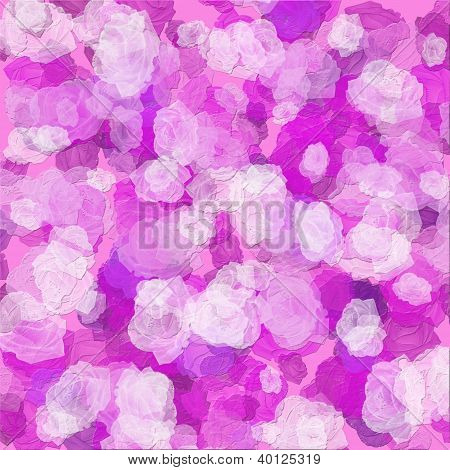 Abstract Background For Valentine's Day With Pink Roses In Texture