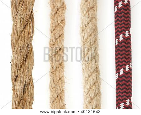 ropes isolated on white background