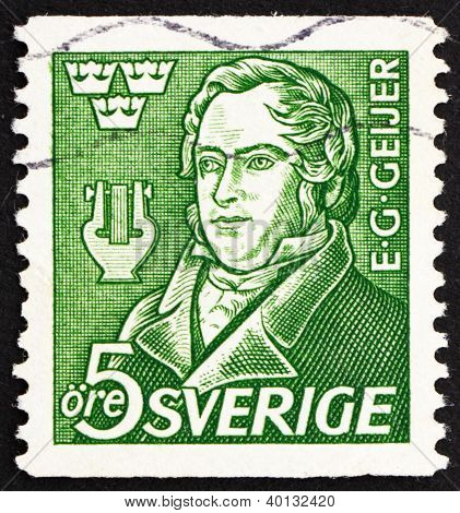 Postage Stamp Sweden 1947 Erik Gustaf Geijer, Historian, Philosopher And Poet