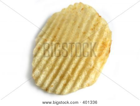 Potato Chip On White