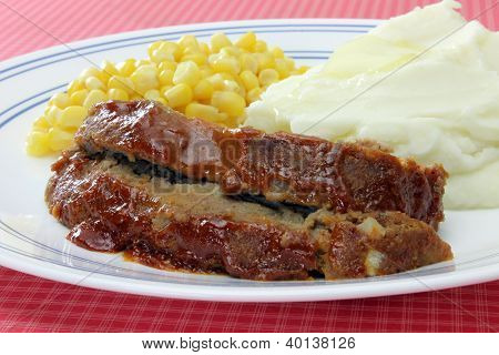 Jim's Meatloaf Dinner Plate