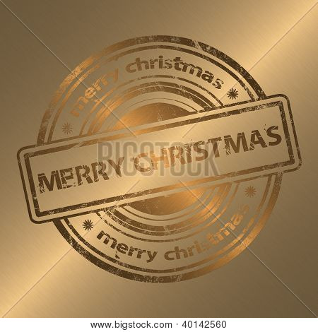 Merry Christmas Gold Style Background