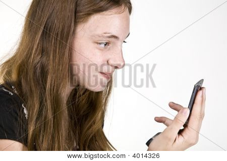 Teen On Cell Phone