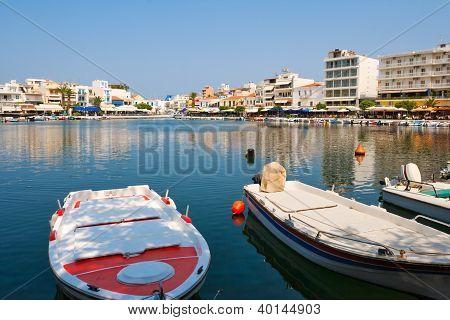 View Of Agios Nikolaos. Crete, Greece