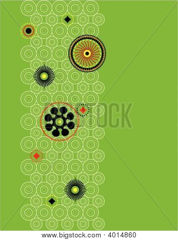 Funky Green Circle Background