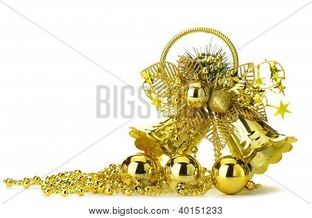Gold Christmas Handbell