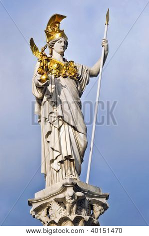 Pallas Athene In Front Of Austrian Parliament