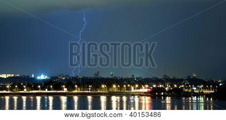 Lightning In The Night Sky.