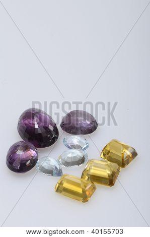Close Up Of Various Gems
