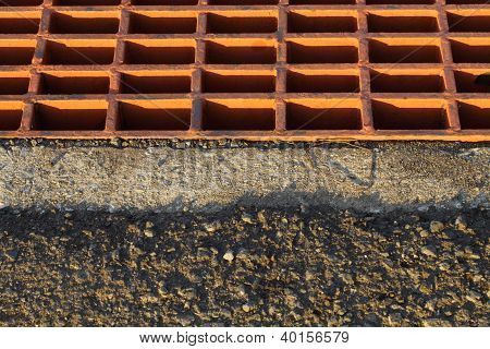 Iron drain cover