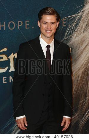 NEW YORK-DEC 10: Actor Aaron Tviet attends the premiere of