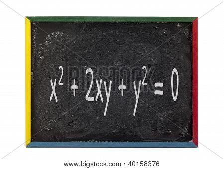Maths Formula Written On Slate Board