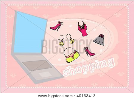 Online Shopping Abstract Background