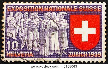 Postage Stamp Switzerland 1939 Deputation Of Trades And Professi