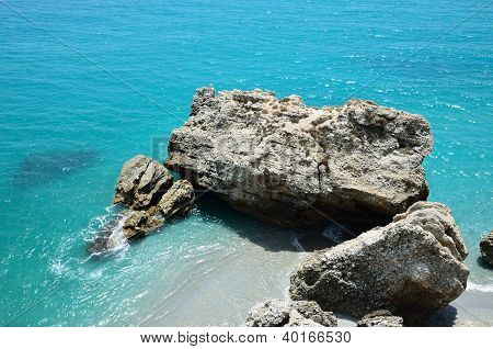 Mediterranean Cove Of Nerja