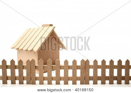 A wooden ranch.
