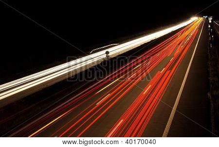 German Highway By Night