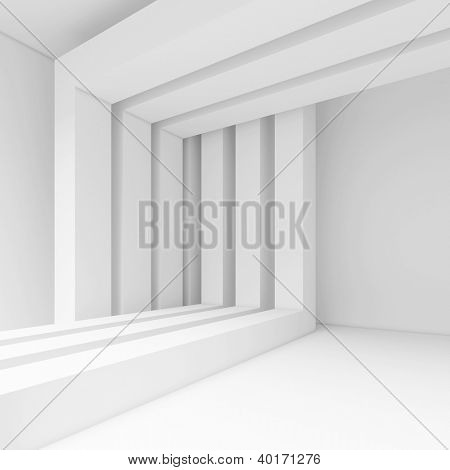 3d White Interior Design