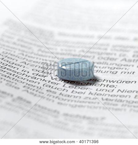 Blue Pills On Package Insert