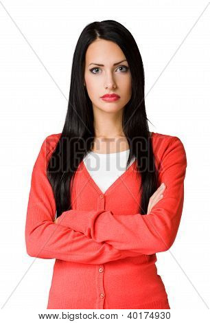 Angry  Looking Business Woman.
