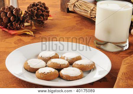 Molasses Cookies And Milk