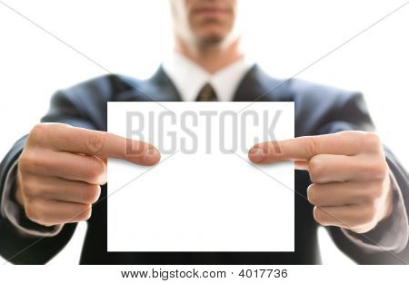 Business Card In Hands