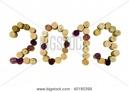 New Year 2013 (clipping Path)