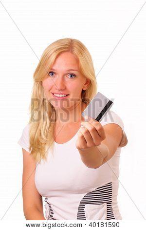Smiling Shopping Young Woman