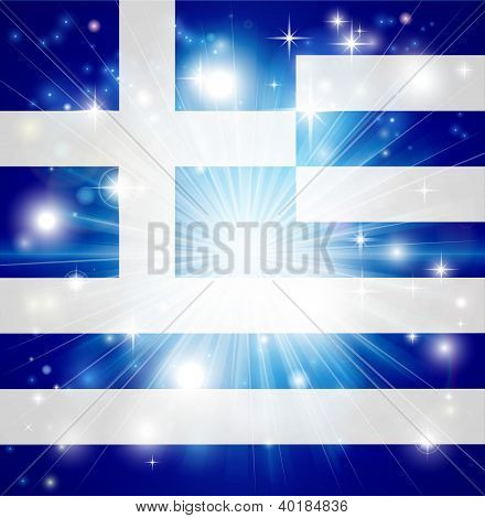Greek Flag Background