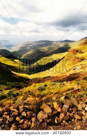 Painting Of Sani Pass