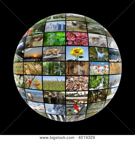 Media Ball With Images On Nature