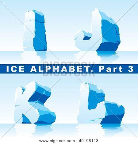 Alfabeto de hielo.
