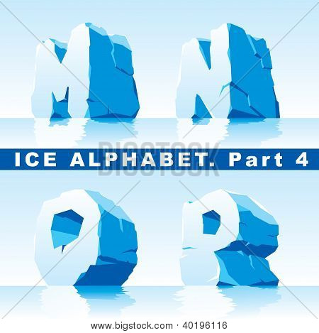 Ice alphabet.