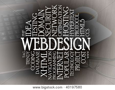 Word Cloud Webdesign Concept