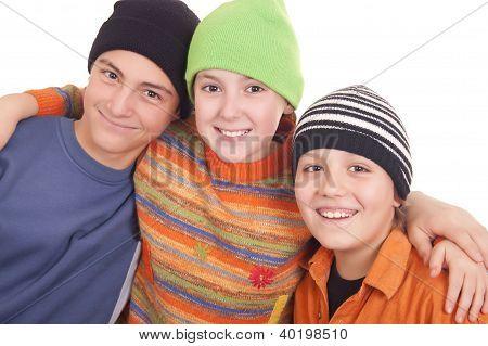 Three Happy Teenagers