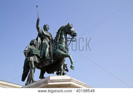 Statue of King Ludwig of Bavaria in Munich, Germany