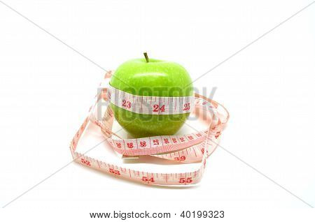 Apple wrapped with tapeline