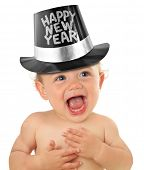 stock photo of new years baby  - Happy New Year baby boy - JPG