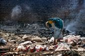 stock photo of groundwater  - Pollution and poverty  - JPG