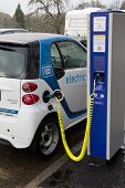 STUTTGART, GERMANY - NOV 30: A Car2go electric car at one of the 500 charging points on November 30,