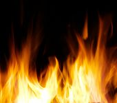 stock photo of fire  - A nice fire in a fire place - JPG