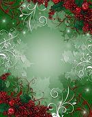 Постер, плакат: Рождественские фон Холли ягод