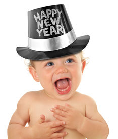 foto of happy new year 2013  - Happy New Year baby boy - JPG