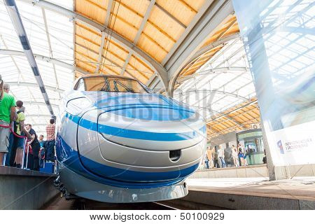 right side pendolino train first time shown to public in wroclaw poland