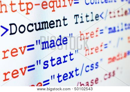 Html Source Code Of Web Page With Title