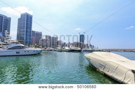 Zaitunay Bay In Beirut, Lebanon
